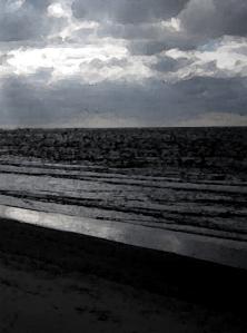 Grey beach detail