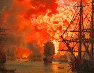 Jacob_philipp_hackert,_distruzione_della_flotta_turca_alla_battaglia_di_chesma,_1771